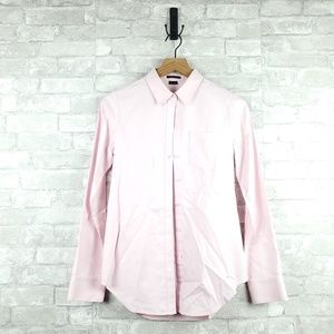 Theory cotton button down long sleeve | Size S
